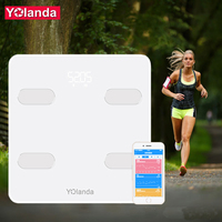 Yolanda Premium Smart Bathroom Weight Scale Bluetooth Body Fat Scale Human Weighing mi Floor Scales Household Home Gift