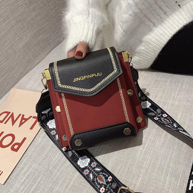 Женская новая стильная широкополосная сумка мессенджер, модная простая Наплечная квадратная слинг сумка|Сумки с ручками|   | АлиЭкспресс