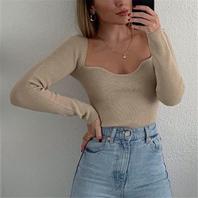 Khaki Shirt with square collar