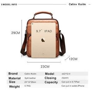 Image 2 - Celinv Koilm большой Размеры мужские сумки известного бренда мужские кожаные сумки через плечо сумка мессенджер для 9,7 дюймов iPad повседневное бизнес