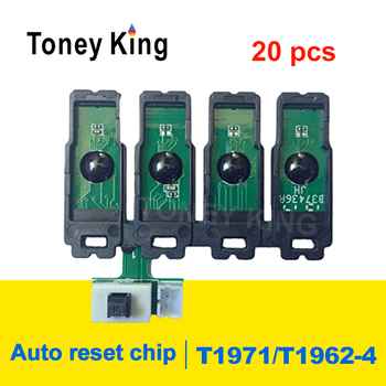 Toney King 20pcs T1971 T1962 CISS Combo ARC Chips Compatible For Epson XP-201 XP-211 XP-204 XP-401 XP-411 XP-214 XP-101 WF-2532