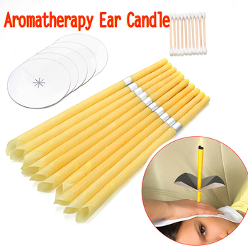 10 Pcs/set Indiana Candling Ear Cleaner Aromatherapy Ear Wax Removal Treatment Fragrance Tray Earplug Cotton Swabs Health Care