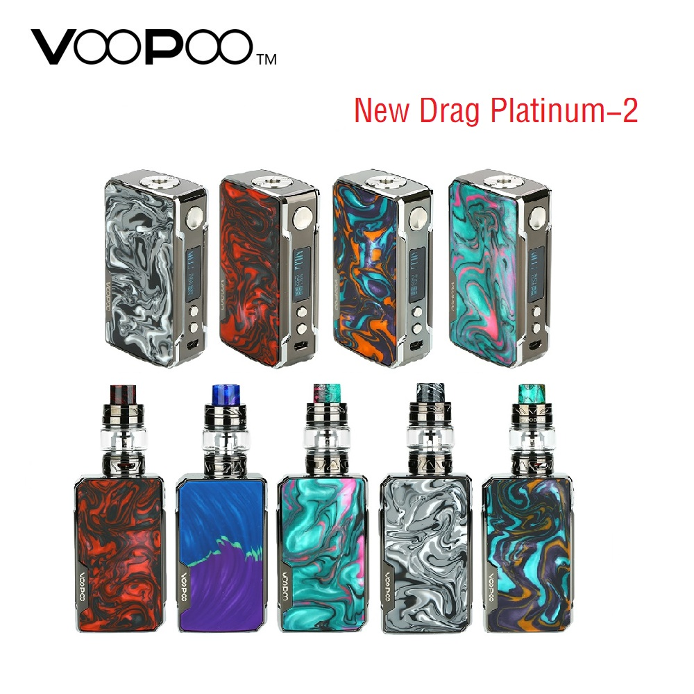 Original VOOPOO Drag 2 Platinum 177W TC Box MOD Power By 18650 Battery Vape Vaporizer Voopoo Mod VS Voopoo Drag 2/157W/177W/Nano