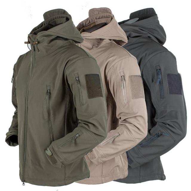 Men's jacket Outdoor Soft Shell Fleece Men's And Women's Windproof Waterproof Breathable And Thermal Three In One Youth Hooded 1