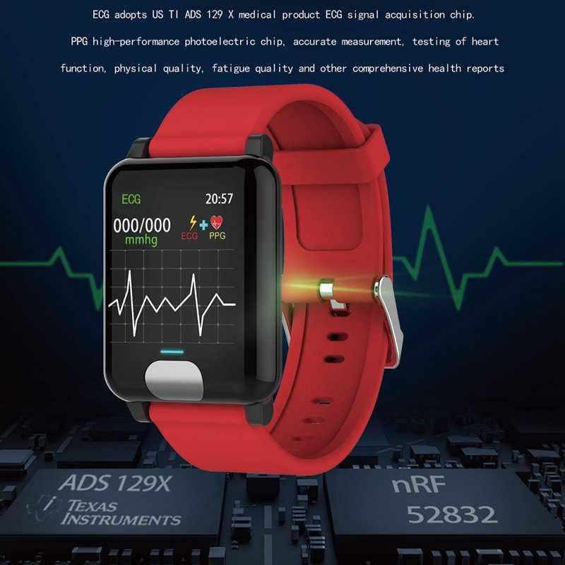 GEJIAN ساعة ذكية ECG إندستريز ضغط الدم قياس IP67 النشاط تعقب Gps Smartwatch معصمه القلب معدل هواتف الايزو المحمولة