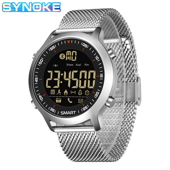 SYNOKE Smart Watch Men 2019 Call Reminder Bluetooth Calorie Metal Strap IP67 Waterproof IOS Android relog inteligente hombre