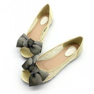 Image 5 - 2020 ใหม่ล่าสุดรองเท้าแฟชั่นผู้หญิงหญิงบัลเล่ต์ตื้น Peep Toe รองเท้าเซ็กซี่สุภาพสตรีรองเท้าทำงานรองเท้า PLUS ขนาดสีดำ