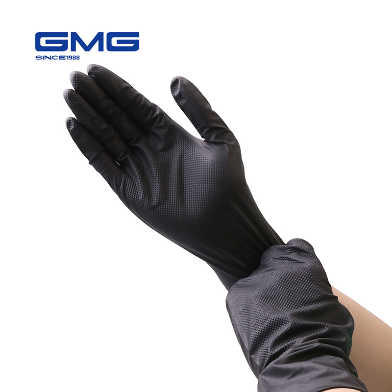GMG Mechanic Gloves Nitrile Gloves Anti-Slip Household Cleaning Washing Black Orange Yellow Green Anti-Static Gloves