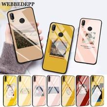 WEBBEDEPP Great art aesthetic Flower Glass Case for Huawei P10 lite P20 Pro P30 P Smart honor 7A 8X 9 10 Y6 Mate 20