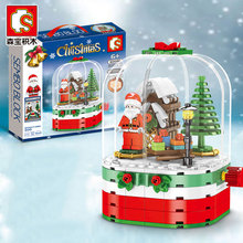 2020 New Christmas Snow House Compatible Legoinglys Building Model Blocks ABS Bricks Toys With Box Christmas New year gifts 5mm 216pcs buliding educational cube blocks anxiety stress toys gift new year magnet with metal box disc magnet