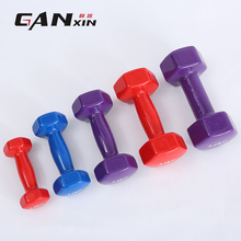 Women Plastic Dip In Dumbbell Female Fitness Weight Durable Stylish Barbell Smooth surface One to nine kilos optional 1pc