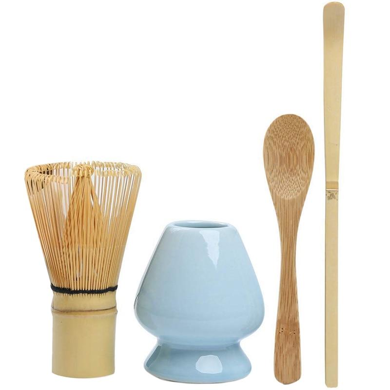 Matcha Whisk Set Bamboe Matcha Thee Set Van 4 Inclusief 100 Prong Matcha Garde (Chasen), traditionele Scoop (Chashaku), Thee Lepel,
