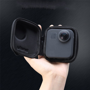 Image 4 - Portable Mini EVA Waterproof Storage Case for Gopro Max Camera Anti shake Protective Case Cage Half open Bag for Gopro Max