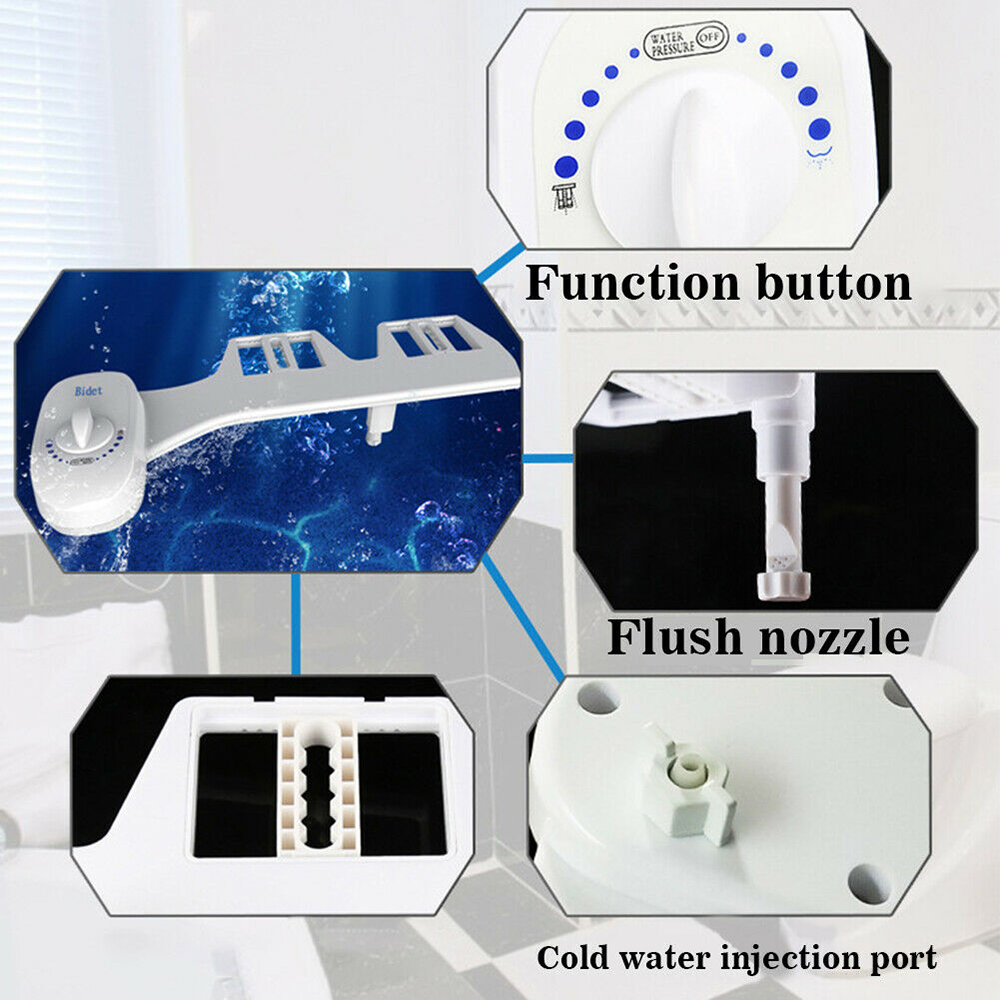 USA Spain Fast Delivery Non-Electric Bidet Toilet Seat Bidet Accessories Automatic Cleaning Sprayer Mechanical Nozzle Washing