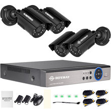 Defeway 8ch 1080n hdmi dvr 1200tvl 720p hd наружная камера безопасности