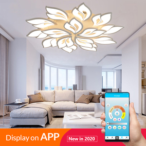 Modern LED chandelier with APP remote control function, living room, bedroom, home, chandelier, ceiling acrylic light, free ship(China)