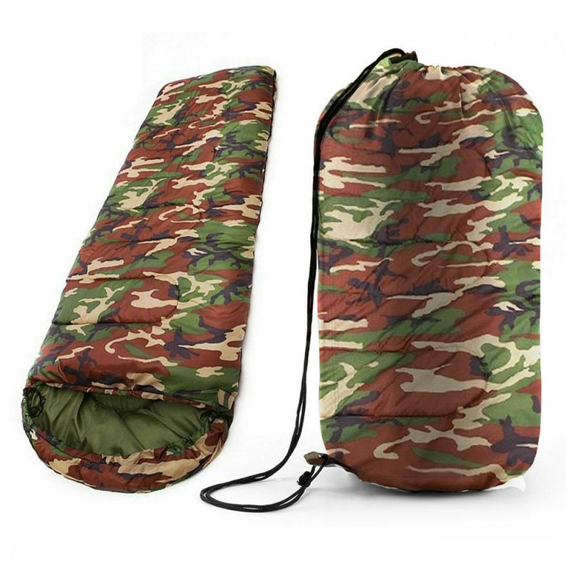 Camping Sleeping Bag, Lightweight 4 Season Warm & Cold Envelope Backpacking Sleeping Bag For Outdoor Traveling Hiking New 7