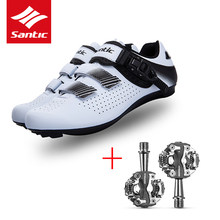 Santic obuwie rowerowe Palladium klamra Velcro rowerowe buty szosowe buty rowerowe rowerowe trampki SPD CR-MO pedały pedały MTB
