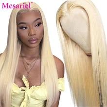 Glueless koronki przodu włosów ludzkich peruk wstępnie oskubane prosto 613 koronkowa peruka na przód 13x4 włosy brazylijskie remy peruki blond
