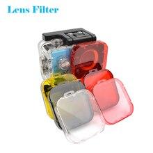6 צבעים מסנן עדשות עמיד למים עבור GoPro Hero 3 צלילה מגן לן מקרה פעולה מצלמה מסנני אביזרי צלילה מצלמת GoPro אביזרי עדשת צלילה מתחת למים UV