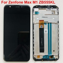5.5 asus zenfone 5 最大M1 ZB555KL液晶ディスプレイパネルのタッチスクリーンデジタイザガラスセンサーの交換部品 + フレーム