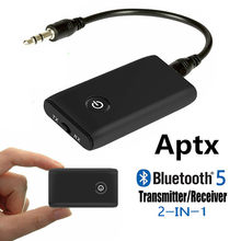 Bluetooth 5,0 transmisor receptor de CSR Chip Aptx de adaptador de Audio de 3,5mm AUX Jack RCA Dongle USB inalámbrico para PC TV coche auriculares(China)