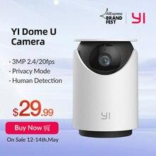 YI – caméra de Surveillance dôme intérieure IP wifi hd 2K, dispositif de sécurité sans fil, avec ia, vision humaine et animale, compatibilité avec Assistant vocal