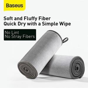 Image 2 - Baseus Toalla de lavado de coches, toalla de microfibra seca, Kit de limpieza automática, accesorios para el cuidado del coche