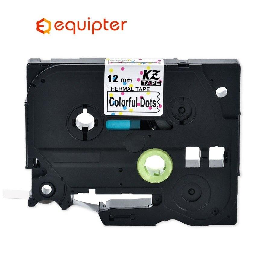Multicolor Tze231 12mm Tze Label Tape Compatible Brother P-touch Label Printers Tze-231 Tze PT Label Ribbon Cassette Tze 231