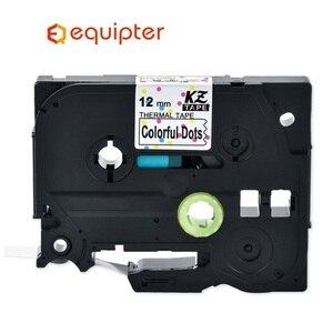 Multicolor Tze231 12mm Tze Label Tape Compatible Brother P-touch Label Printers Tze-231 Tze PT Label Ribbon Cassette Tze 231(China)