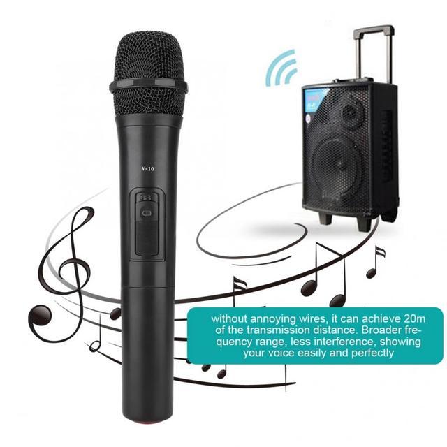 범용 UHF 무선 전문 핸드 헬드 마이크 오디오 앰프 노래방 마이크 노래 성능 오디오 앰프