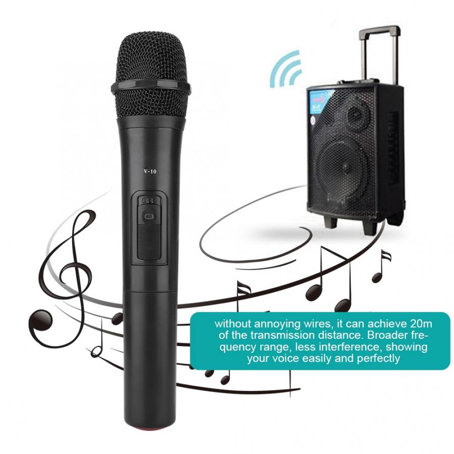 Handheld Microphone Audio-Amplifier Karaoke-Mic Church Professional Performance Uhf Wireless title=