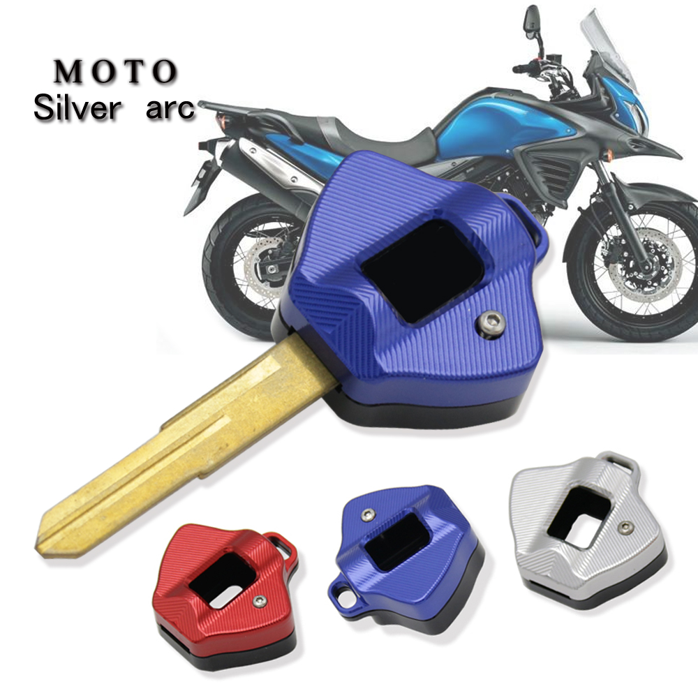 VSTROM Motorcycle Key Cover Case Shell FORSUZUKI SV1000 SV650 V-Strom <font><b>DL1000</b></font> V-Strom DL650XT DL1000XT RED Silver image