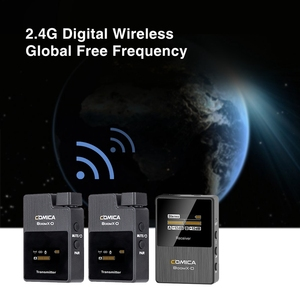 Image 2 - Comica Kit de transmisor de micrófono inalámbrico boomx d, Mini receptor de micrófono, 2,4G, Digital, para Fimi plam/Snoppa vmate