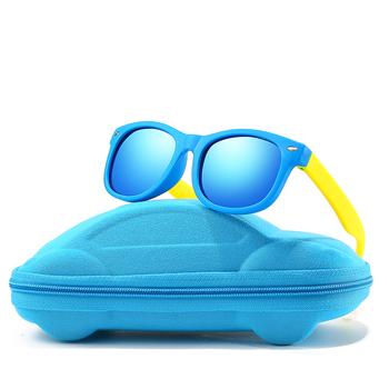 Z przypadku dzieci UV spolaryzowane okulary przeciwsłoneczne okulary przeciwsłoneczne dla dzieci okulary przeciwsłoneczne polaroid dla dziewczynek chłopcy okulary dla dzieci okulary retro tanie i dobre opinie Rexxar SQUARE Dla dorosłych Z tworzywa sztucznego Lustro 4 2CM Z poliwęglanu 13+JY82with-car-case 4 8CM