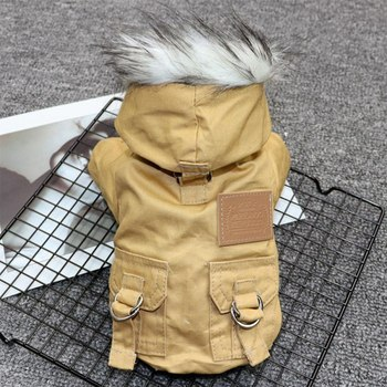 Pet Cats and Dogs Winter Warm Down Jacket Jacket Medium and Small Dog Chihuahua Hooded Clothes Lightweight Hoodie 2