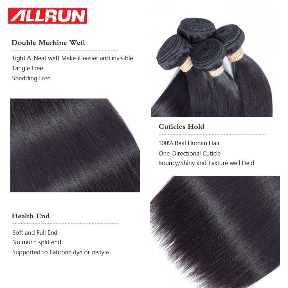 Allrun Menselijk Haar Bundels Haar Extention Braziliaanse Hair Weave Bundels Straight Hair Extentions Niet Remy 1/2/3/4 bundel 26 28 30