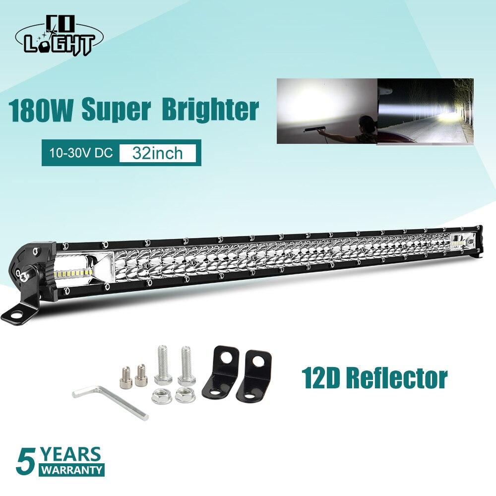 CO LIGHT Super Slim 60W 180W 300W Led Work Light 12V 24V 8