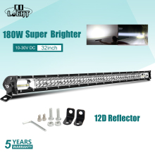 CO LIGHT Super Slim 60W 180W 300W Led Work Light 12V 24V 8 20 32 Spot Flood Combo 4X4 Bar Offroad for Jeep SUV Trucks