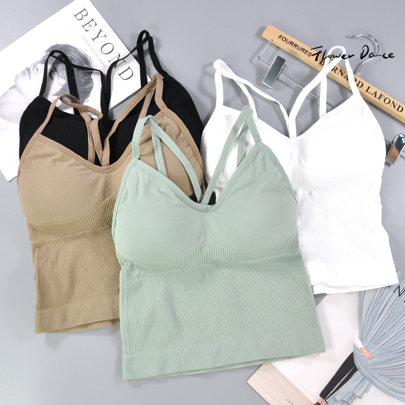 FlowerDance Fitness Bra Sports Bra Cotton Tops Sport Woman Gym Wear Bralette Absorb Sweat Seamless Sports Top