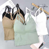 FlowerDance Fitness Bra Sports Bra Cotton Top Sport Woman Gym Wear Bralette Absorb Sweat Seamless Sports Bra