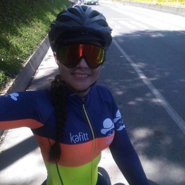 Kafitt-2020 ciclismo terno triathlon sexy collants ciclismo camisa de manga longa camisa de ciclismo maiô mulher macaco terno 9d gel 2