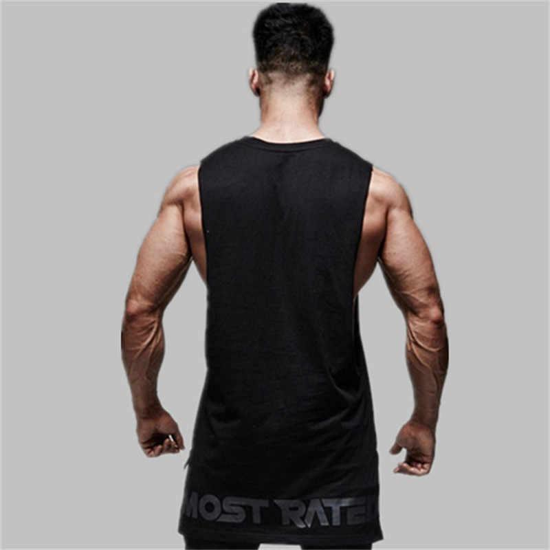 Marke mens Bodybuilding ärmellose weste Sommer Baumwolle Männlichen Tank Tops fitness-studios Jogging Kleidung Unterhemd workout Fitness tank tops