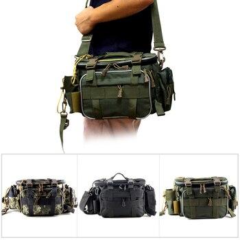 Multifunctional Waterproof Fishing Bag Outdoor Sports Waist Pack Fishing Lures Gear Storage Bag Single Crossbody Bags X448
