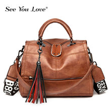 Vintgae Woman Handbags Soft Leather Women Messenger Bags Tassel Crossbody Bags for Female Black Luxury Brand Ladies Shoulder Bag chispaulo women genuine leather handbags cowhide women messenger bags luxury brand woman crossbody bags for women tassel t551