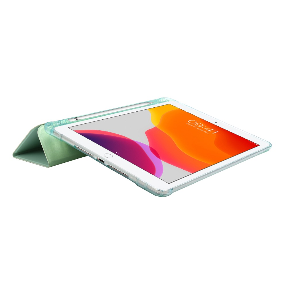 10-2-Case Folding-Cover with iPad Funda 7th-Generation-Case Light-Color Pencil-Holder for