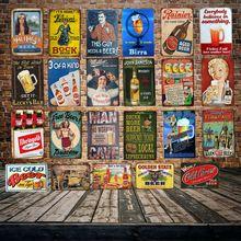 [ DecorMan ] Man Cave GUY Free Beers World TIN SIGN Custom wholesale Mural Paintings Bar PUB Decor LT-1816