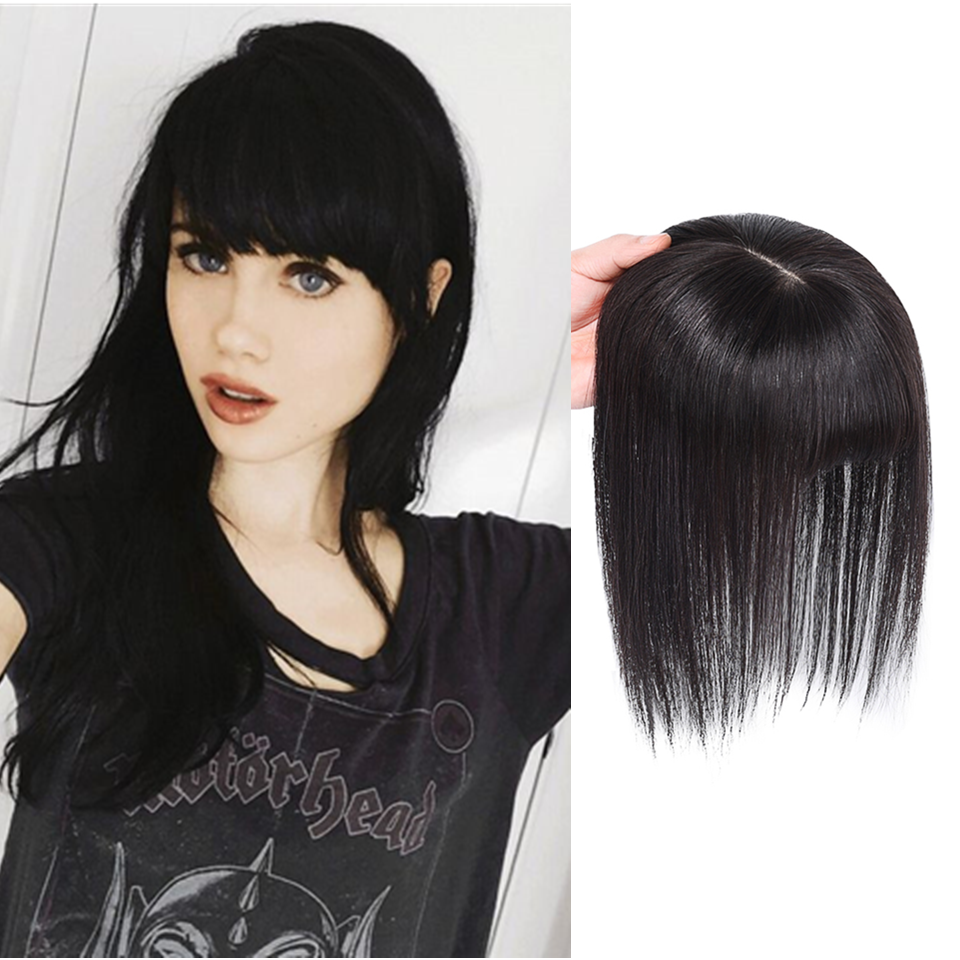 13*13Straight Intermediate Silk Base Human Hair Topper Pure Color Toupee Hairpieces For Women Remy Hai Toupee Hair For Women