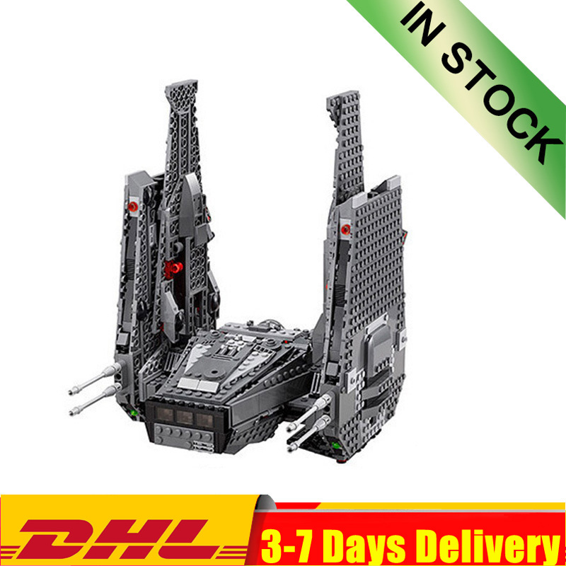 DHL In Stock 05006 1053Pcs Star Wars Kylo Ren Command Shuttle Building Blocks Educational Toys Compatible 75104