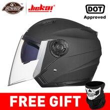 JIEKAI мотоциклетный шлем с открытым лицом Capacete мотоциклетный шлем Motocicleta Cascos Para мото гоночные мотоциклетные винтажные шлемы